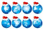 地球与圣诞帽