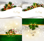 圣诞节光斑背景