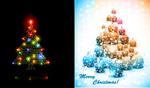 多彩圣诞树