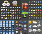 卡通天气图标