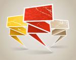 The origami dialog vector