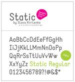 Static英文字体
