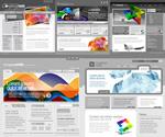 灰色网页模板