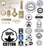 100%纯棉标签
