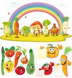 卡通蔬菜矢量