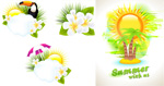 夏季风景卡片