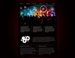 黑色网页模板