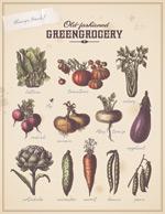 古典蔬菜矢量