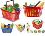 蔬果和购物筐