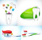 牙科矢量素材