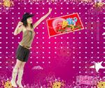 妇女节吊牌海报