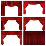 红色舞台幕布2