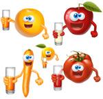 卡通水果形象