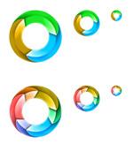 彩色立体圆环
