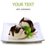 冰淇淋和巧克力