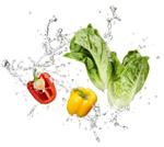 水滴喷溅蔬果
