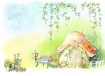 蘑菇小屋童话风景