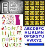 不同的英文字母