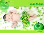 苹绿果与宝宝写真
