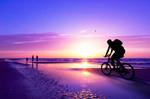 海滩自行车运动