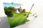 创意绿色画卷2