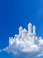 创意城堡云朵