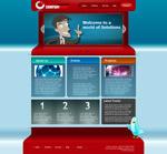 卡通风格网页模板