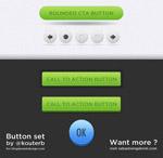绿色按钮psd
