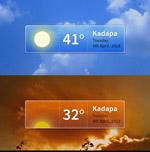 天气预报界面