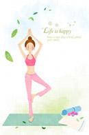瑜伽工作室贴画