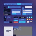 社交平台UI元素