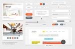 浅色网页UI设计