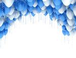 双色气球图片