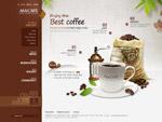 棕色咖啡馆网页