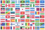 100国旗PSD图标