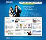 蓝色商务网站
