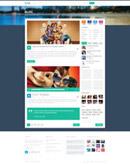 扁平化网页模板