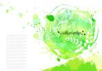 绿色墨迹图案