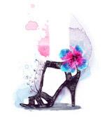 高跟鞋插画