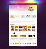 艺术网站模板