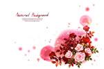 水墨玫瑰花