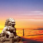 石狮子展板