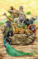 手绘动物海报