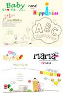 儿童摄影字体