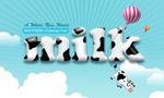 奶牛图案字体