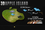 3D苹果图标桌面