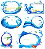 蓝色海洋边框