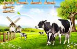 牧场上的奶牛