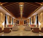 中式大厅模型