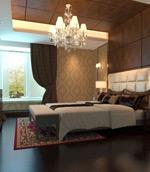 简欧卧室模型